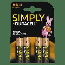 AA ΜΠΑΤΑΡΙΑ SIMPLY  DURACELL 4ΤΕΜ