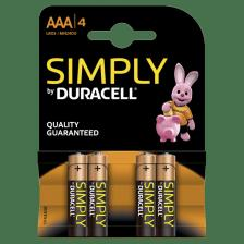 AAA ΜΠΑΤΑΡΙΑ SIMPLY  DURACELL 4ΤΕΜ