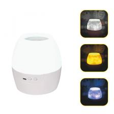 2 IN 1 8W LED NIGHT LIGHT & PROJECTOR WITH 4 PATTERNS AND 1M USB CABLE OR 3XAA BALLOON