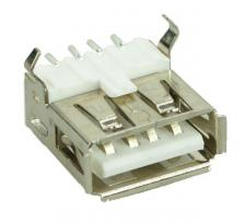 USB 2.0 Connector A TYPE, up Solder in, Silver/White UNBRANDED