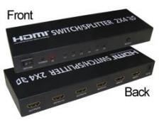 DATA SWITCH HDMI ΟΙΚΟΝΟΜΙΑΣ 2ΙΝ  4 OUT COMP