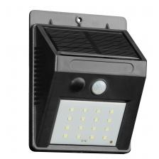 SOLAR OVAL WALL LIGHT SILVER 270LUM 40949
